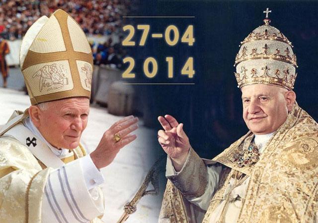 2 Papas santos.