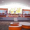 Algunos momentos durante el festejo por el 50º aniversario en la explanada de la Universidad Anáhuac