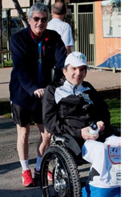 Sebastián Moller, quien sufrió un accidente automovilístico en 2007 que lo dejó tetraplégico, participó en el evento.