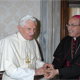 Pope Benedict XVI receives Archbishop Velasio de Paolis, C.S. in a private audience. (Photo: L�Osservatore Romano)