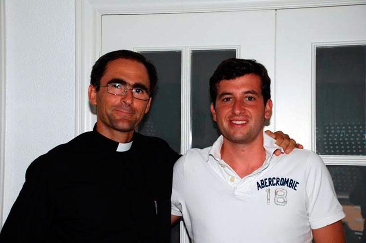 Alfredo con el P. Javier Cereceda, L.C.