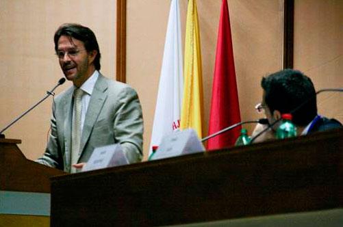 Fernando Landeros, durante las conferencias del segundo día del congreso destinado a profundizar en el carisma del Regnum Christi.