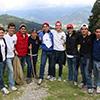 Unos colaboradores durante las misiones de evangelización en el estado de Puebla.
