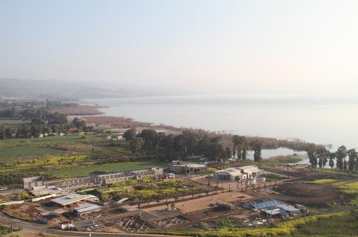 O terreno do Magdala Center visto do monte Arbel