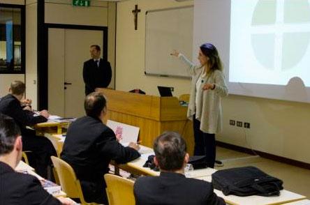Durante as palestras.