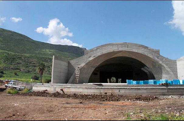 El Centro Magdala, de Tierra Santa, sigue en construcción. Aquí lo que será la Basílica.