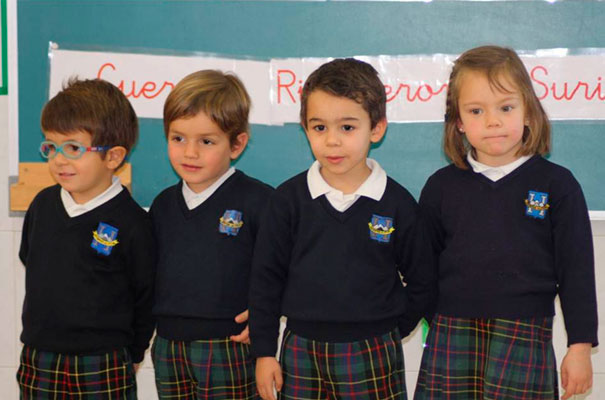 Peque&ntilde;os alumnos del Highlands Sevilla