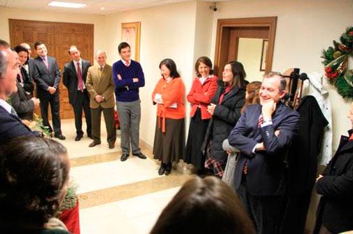 Un momento de convivencia  previo a la navidad con Gloria Rodríguez y el equipo de la Sede de la Responsable general.