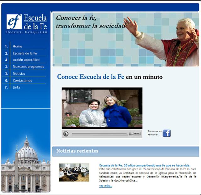 Página web de la Escuela de la Fe.