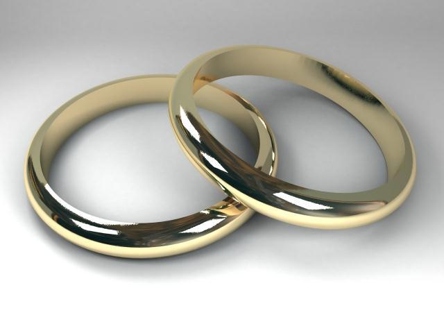 Anillos matrimoniales.
