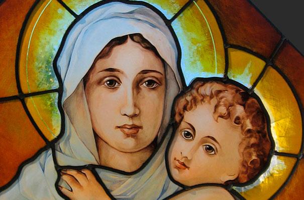 Vitral Virgen María