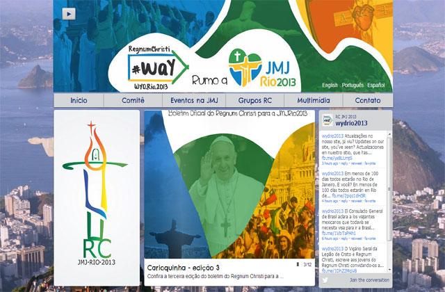 Página web de la de la JMJ Rio