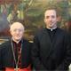 Cardinale Albert Vanhoye, già Rettore del Pontificio Istituto Biblico e già Segretario della Pontificia Commissione Biblica, con il P. Lucas Teixeira, L.C.