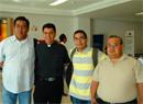 Sacerdotes diocesanos que participaron en el curso de renovación sacerdotal, en Jerusalén.