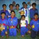 Grupo de fútbol de chicos del ECYD, en Ocotepec (Chiapas).