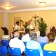 Mons. Nicolás Bermúdez celebra la misa en el nuevo oratorio de los evangelizadores de tiempo completo.