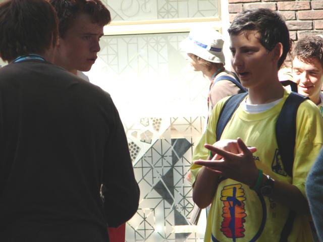 Joven de Juventud Misionera presente en la Jornada Mundial de la Juventud, en Colonia 2005.