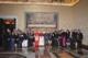 El Papa Benedicto XVI con el grupo de patrocinadores de las artes en los museos vaticanos (Foto: L'Osservatore Romano).
