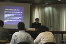 El P. Pedro Barajón, L.C., durante el taller de actualización teológica tenido en la sede de la Conferencia Episcopal de Venezuela.