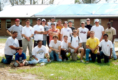Youth for the Third Millennium missionaries, mostly students from Louisiana State University in Baton Rouge, help parishes in Slidell, LA, overcome hurdles left by Hurricane Katrina.