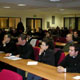 Estudiantes de los cursos de Ciencia y Fe, en el Ateneo Ponritifio Regina Apostolotum, de Roma.