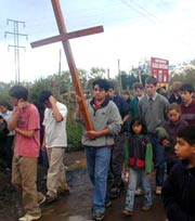 The Way of the Cross on missions in Chile.