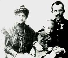 Karol con sus padres, Karol Wojty³a y Emilia Kaczorowska