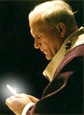Papa con la Eucaristía