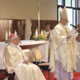 Mons. Lorenzo Baldisseri, nuncio apostólico del Santo Padre en Brasil, pronuncia la homilía durante la misa inaugural.