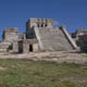 Monumental buildings and temples, typical of Mayan settlements
