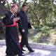 His eminency Cardinal Camillo Ruini talking with Father Paolo Scarafoni, rector of the Ateneo.