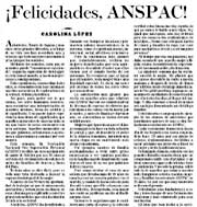 "Editorial ""El Norte"" sobre ANSPAC"