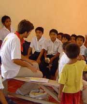 Jóvenes españoles de misiones en Yucatán
