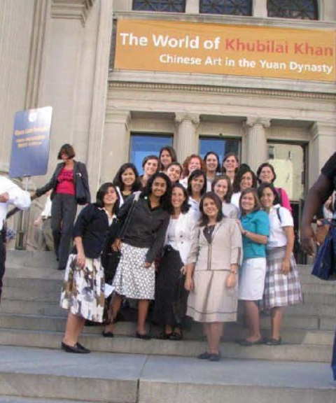 mec students at art museum