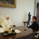 Fr. Álvaro Corcuera with Pope Benedict XVI in Private Audience.