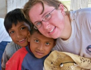 Barbara with missions kids