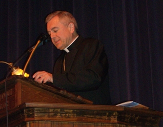 bishop talks at conference