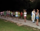 A moment during the Eucharistic procession at the camp.