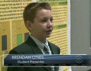Brendan presenting his project.