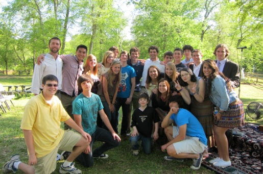 Young Mission Corps men and women joined together for a co-ed youth activity during Holy Week.