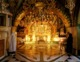 The altar marking the spot of Calvary, in the Church of the Holy Sepulcher in Jerusalem.
