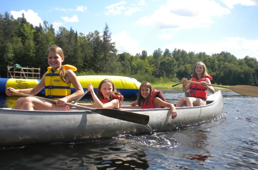 canoe trip at camp