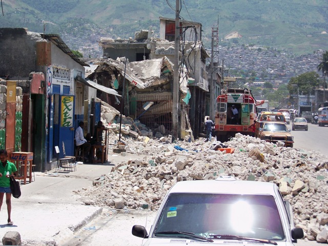 wreckage in Haiti