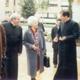 9 febbraio 2001, Chiara Lubich mentre conversa con P. Álvaro Corcuera, L.C., durante una delle sue visite al centro di studi superiori dei Legionari di Cristo a Roma.