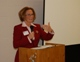 Dr. Coleen Kelly Mast gives a talk at one of the spiritual spas.
