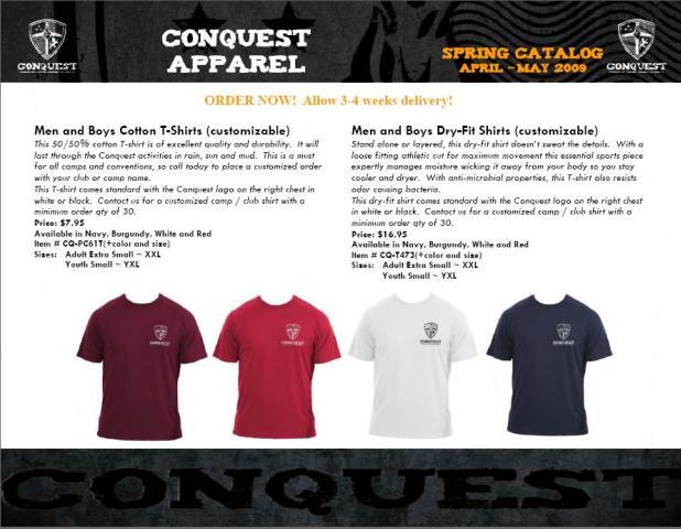 Conquest stuff