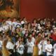 Grupos del Regnum Christi mostrando su alegría y dinamismo.