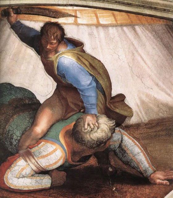 Capilla Sixtina: David y Goliath
