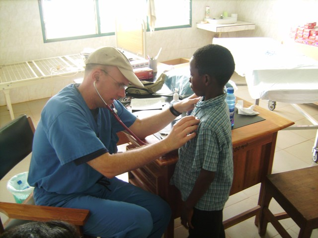 doctor with kid from Ghana