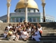 The mothers and daughters in front of the Dome of the Rock in Jerusalem.